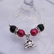 Camping Fire Wine Glass Charm - Elegance Style